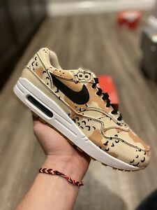 Nike Air Max 1 Beach Camo Men's Sneakers 875844-204 BOX MISSING LID