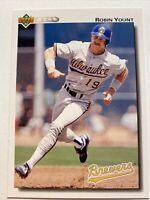 1992 Upper Deck Milwaukee Brewers Robin Yount #456 HOF Hall of Fame