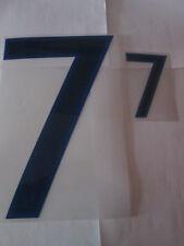 N ° 7 grandes y pequeñas Inglaterra Home Football Shirt nombre establecido sólo números de Deportivos Id
