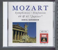 BARENBOIM (CD NEW) MOZART SYMPHONIES 40 & 41 JUPITER