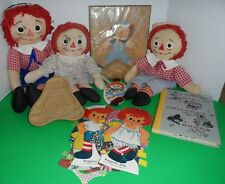 "15"" Knickerbocker Raggedy Ann & Andy Lot - Dolls, Picture, Book, Paper Dolls,"