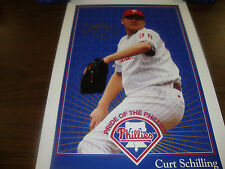 "Curt Schilling---Autographed Photo---Pride Of The Phillies---14"" x 20"""