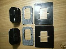 LAND ROVER SERIES SLIDING WINDOW LOCKS WITH MASKS AND SEALS (TWO)