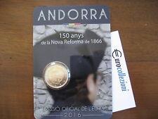ANDORRA 2016 2 EURO COINCARD 150° ANNIVERSARIO RIFORMA DEL 1866 ANDORRE АНДОРРА