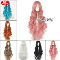 Anime 85CM Long Curly Hair Party Women Basic Lolita Cosplay Wig Heat Resistant