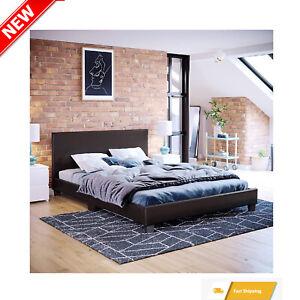 Vida Designs Lisbon Double Bed, 4ft6 Bed Frame Upholstered UKFR Faux Leather Low