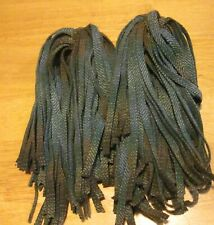 New listing 100 Teal Ombre Stripe #8 Primitive Rug Hooking or Punch Needle Cut Wool Strips