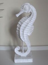 Nautical Sea horse On Stand - White