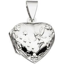 45403 Medaillon Herz 925 Sterling Silber Rhodiniert Zum Öffnen für 2 Fotos