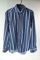 Bugatchi Uomo Long Sleeve Button Front Dress/Casual Shirt Men's Size About L