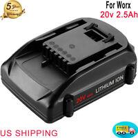 Replace For Worx 20V Lithium Battery WG546 WA3525 WA3520 WA3575 power tool 2.5Ah
