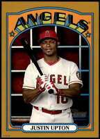 Justin Upton 2021 Topps Heritage 5x7 Gold #195 /10 Angels