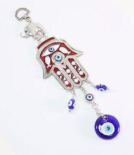 Turkish Blue Evil Eye Red Hamsa Hand Elephant Amulet Wall Hanging Protection