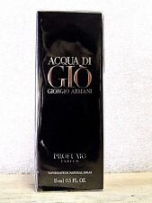 ACQUA DI GIO PROFUMO '2' BOTTLES .5 0z EDT  SPRAY +TOTE BAG + ATOMIZER
