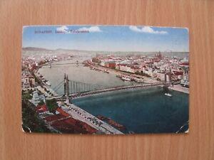 Ansichtskarte, Budapest, Látkép, Ungarn, Deutsche Feldpost, 1917, farbig, alt