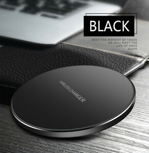 15W Qi Wireless Charger Fast Charge Pad For Samsung iPhone XS Max X XR 12 11 Pro
