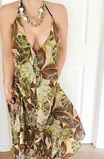 BELINDA FAIRBANKS Made In AU FLORAL PRINT COTTON BEACH DRESS SZ 1