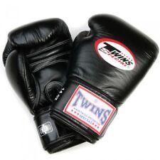 Twins Boxhandschuhe 16Oz schwarz bestes Leder, Muay Thai, Kickboxen, Boxen, MMA