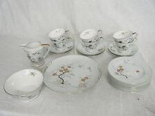 C4 Porcelain Noritake Art Deco Pale Green Tea Service (21 pieces no teapot) 4C7C