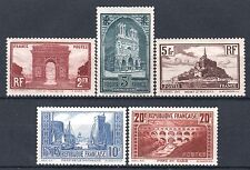 "FRANCE 258 / 262 "" SERIE 5 SITES MONUMENTS , PONT DU GARD "" NEUF xx TTB  P492"