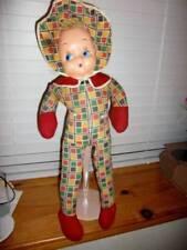 """A & L Novelty ~ Vintage 1950's Celluloid Cloth Flirty Eyes 24"""" Doll"""