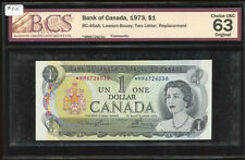 1973 Bank of Canada $1 Replacement Banknote - *MM6726030