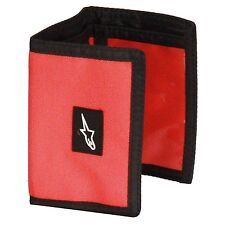 NEUF Alpinestars-Portefeuille Trifold Poche pour ID notes cartes friction R-Portefeuille Rouge