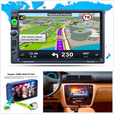 """7"""" 2Din HD 1080P Car Offroad Bluetooth MP5 MP3 Player GPS Navigation Europe Map"""