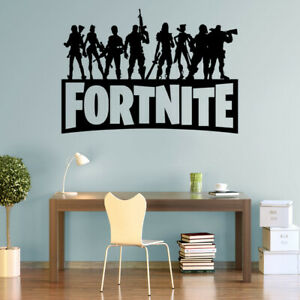 Fort Decals Nite Wall Stickers Silhouette Characters PS4 Xbox Vinyl Wall Art F3