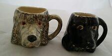Pair of Lancaster Sandland Miniature Dog Toby Mugs Rare! Water Spaniel & Spaniel
