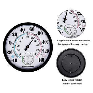 9.84'' Hygrometer Thermometer Warehouse Temperature Humidity Analog Gauge