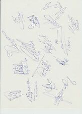FEYENOORD ROTTERDAM KNVB CUP WINNERS 1994 & 1995 HAND SIGNED A4 SHEET X 17 SIGS