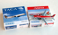 Schabak 1:600 ● AVIANCA Boeing 767-300 + TACA Airbus A321 ● Metal scale 1/600