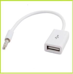 CAVO AUX USB FEMMINA A JACK 3.5 mm MASCHIO ADATTATORE PER AUTO RADIO AUDIO MP3