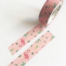 7m Rosa Flamingo Piña 15mm Washi Cinta Papelería Tarjetas envolver japonés
