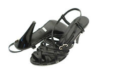 $265 Bally Patent Leather Strappy Slingback Heel Sandals Made in Itay Size 5.5M