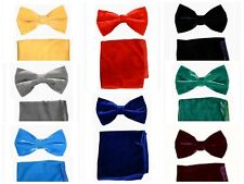 Bowtie Velvet bow tie, entertainer's delight with matching hankie and gift box
