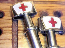 2  Nurse's Cap Metal Cribbage Pegs in the USA  With Free Black Velvet Pouch  a