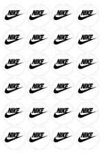 24 x Nike Edible Image Cupcake Toppers Pre-Cut
