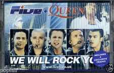FIVE + QUEEN - WE WILL ROCK YOU / KEEP ON MOVIN' REMIX 2000 EUROPEAN CASSINGLE