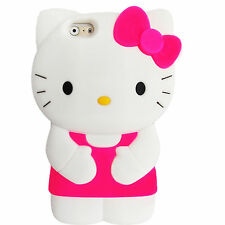 "Hello Kitty 3D Character TPU Soft Silicone Case Cover IPhone 6 6S  4.7""  HOP"