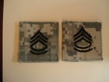 US ARMY Rank Sergeant 1ST Class (1SF) 2 Patches, Hook & Loop