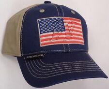 Hat Cap Winchester USA Flag Khaki Navy Blue OC