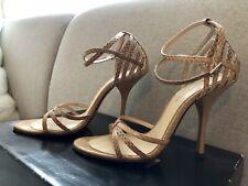 BEBE Dream Camel/Tan Strappy Stiletto Heels Sze 5M