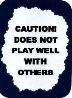 CAUTION IVE LOST MY MIND DONT TOUCH IT Funny rude Jumbo Fridge Magnet 90x60mm