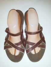 Merrell Women's Jasmine Coffee Bean Leather Slides Sandals Size 11 M