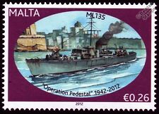HMS ML135 Fairmile B Motor Launch Warship WWII Malta Convoys Stamp