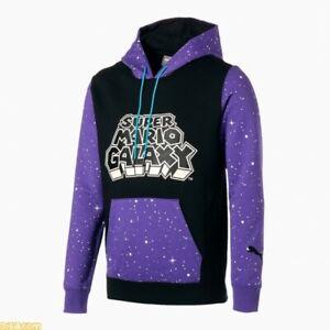 PUMA x SUPER MARIO Men Basketball Purple Hoodie Sweatshirt XS-L size JP LTD New