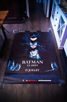 BATMAN RETURNS Style A 4x6 ft Bus Shelter Vintage Movie Poster Original 1992