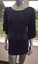 Iniziale Chiave Foro Retro Kimono Manica Lunga Maglione Blackberry UK Medio 12-14 CJ23